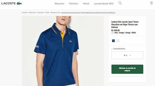 Camisa polo Lacoste tênis original - Roupas e calçados - Copacabana ... 1741963e03