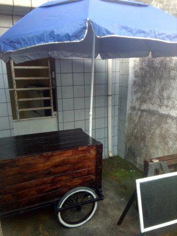 Carroça de paletes com guarda sol - Foto 4