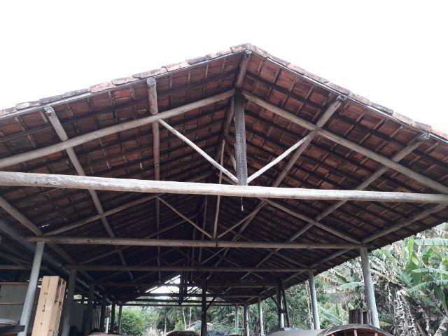 Cobertura de eucalipto e telha francesa para área rural - Foto 4