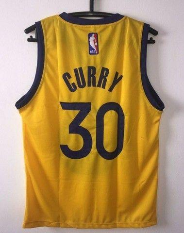 Regata NBA Golden State Amarela - Foto 2