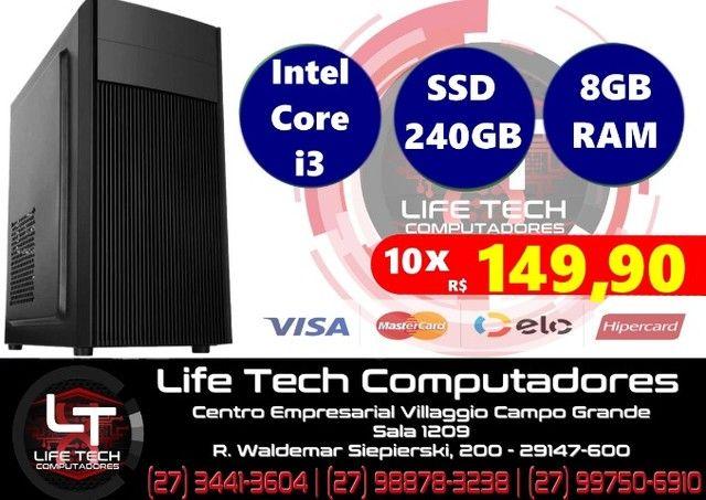 Computador Intel® Core i3 |  SSD 240GB | Memória 8GB| NOVO| Garantia 01 ano