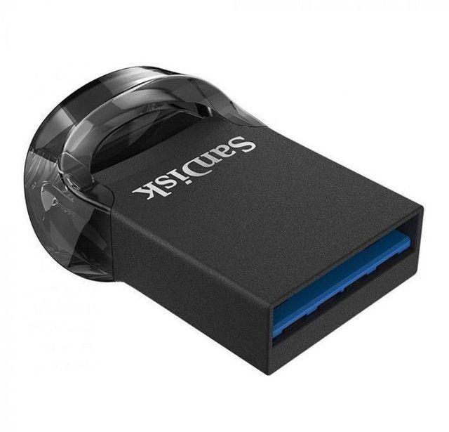 Pen drive Sandisk 64gb ultra fit / USB preto  - Foto 3