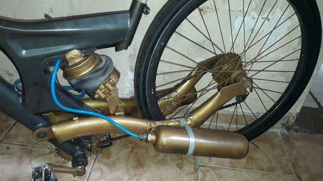 Bike Aro 26 com suspensão a ar - Foto 2