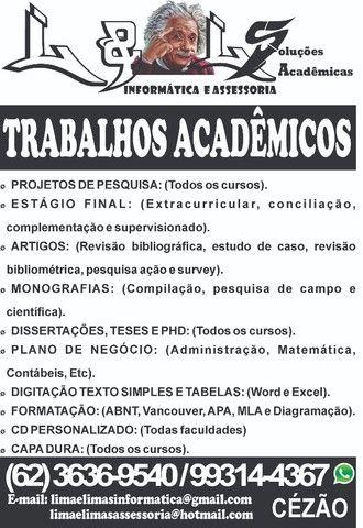 Trabalhos Acadêmicos - L & Ls Soluções Acadêmicas - 3636-9540 - Foto 2