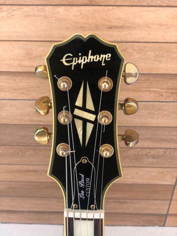 Guitarra Epiphone by Gibson Les Paul CUSTOM - edição limitada - Foto 2