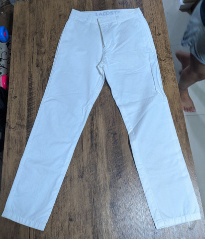 Calça Branca Lacoste Original importada  - Foto 4