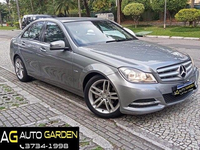 Mercedes Benz c180 2012 cgi(turbo)Blindada n3a+aut/tip+toplinha+couro+absurdamente nova!!!