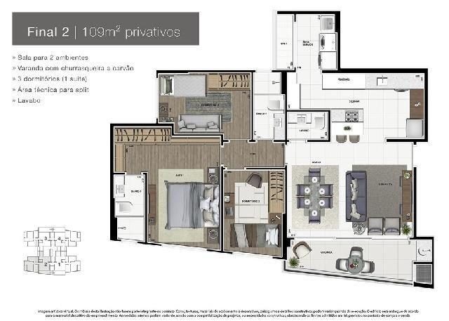 Apartamento Novo Alto Padrão no Ecoville - Foto 3