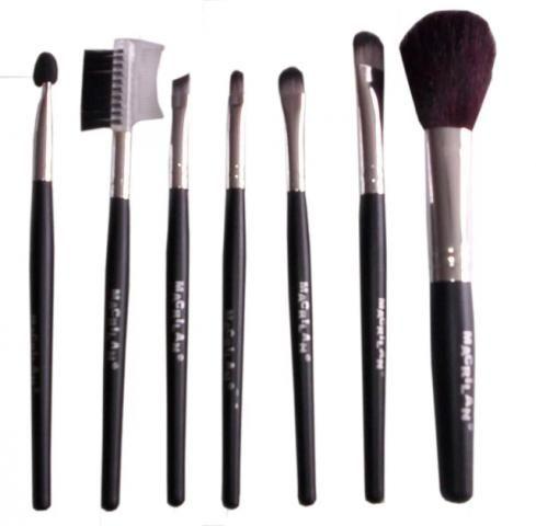 Kit Com 7 Pincéis Para Maquiagem. Marca Macrilan