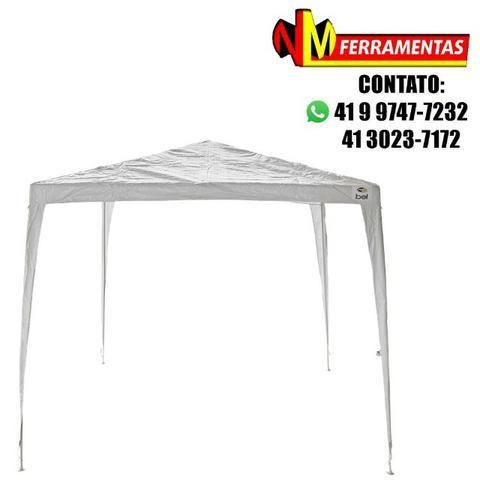 aff5c169b7699 Tenda Gazebo Branco Em Polietileno 3x3 Desmontável Bel Fix ...