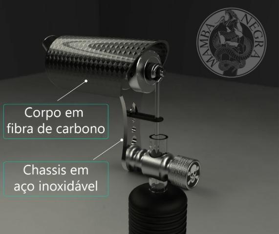Maquina de Tatuagem Mamba Negra (Máquina NOVA!!) - Foto 3
