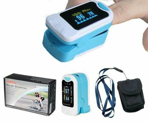 Oximetro Contec Cms50m Portátil Dedo Pulso Oxigênio Sangue