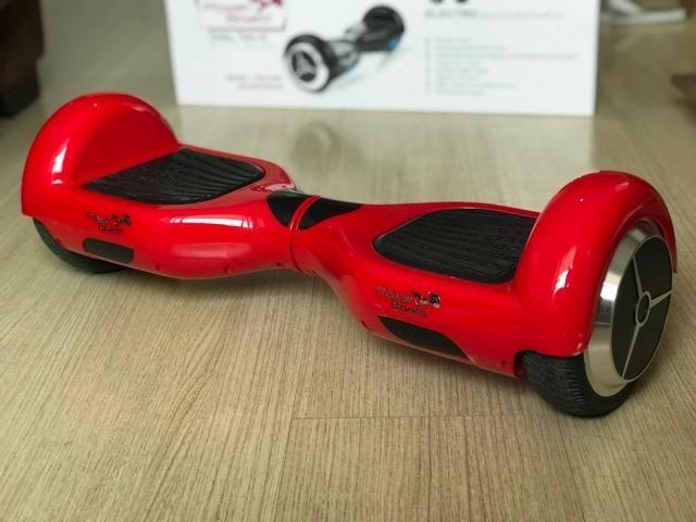 """Skate elétrico Hoverboard vermelho 6,5""""- bateria Lg PB-01BT (com bluetoooth)"""