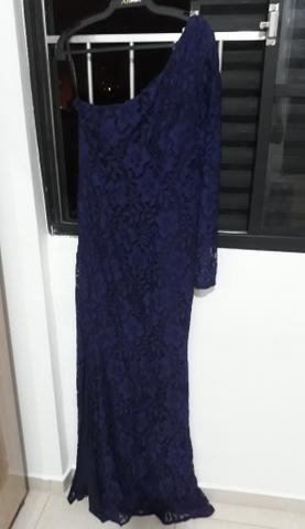 Vestido de festa azul bras