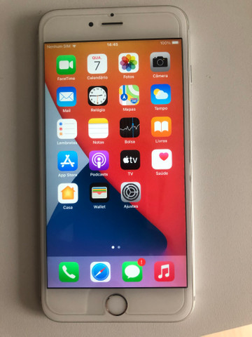 Iphone 6 plus semi novo na garantia 64gb - Foto 2