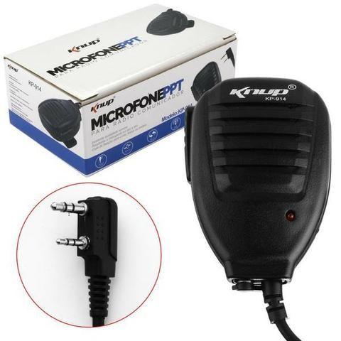 Microfone Ptt Para Rádio Ht Comunicador Knup Kp-914 - Foto 2
