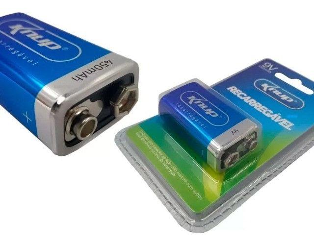 Bateria 9v recarregável knup kp-bt9v