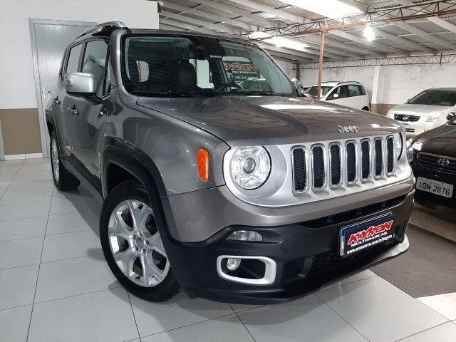 Jeep renegade automática limited 6 marchas banco de couro multimídia único dono 2018 - Foto 11
