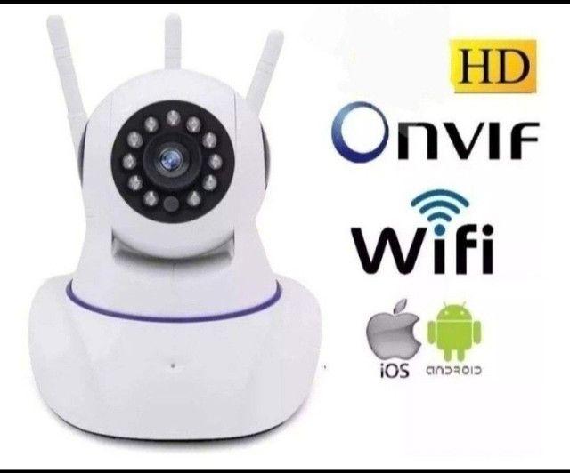 Câmera robô via Wi-Fi imagens HD visão noturna gira 360