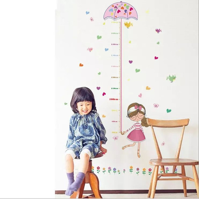 Adesivo de parede régua crescimento de meninas  - Foto 3