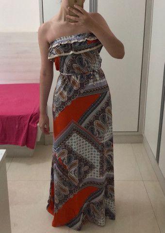 Vestido longo estampado - Foto 2