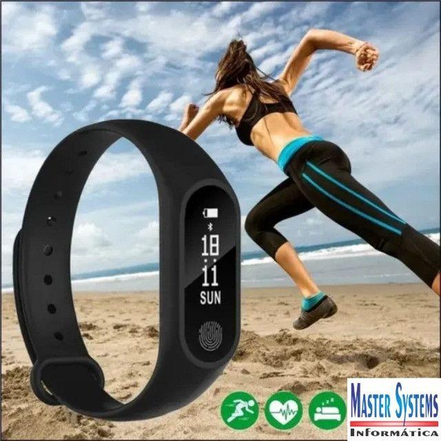 Pulseira Inteligente Smartband Bluetooth M2 Monitor Cardiaco - Foto 6