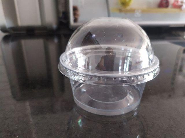 102 Copo bolha com tampa sem furo 150 ml transparente cristal - Foto 3