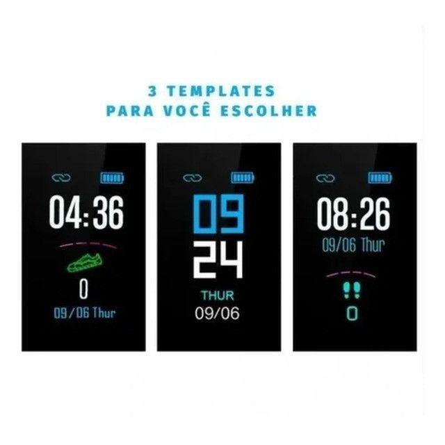 Relógio Pulseira M3 Smartband Inteligente Monitor Cardíaco - Foto 3