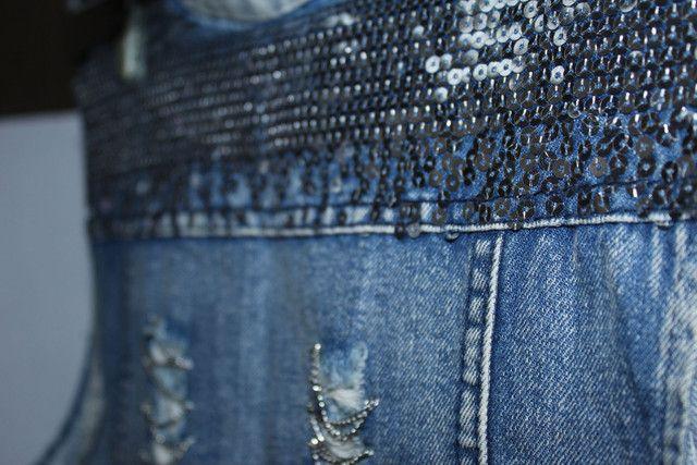 Colete jeans feminino - Foto 6