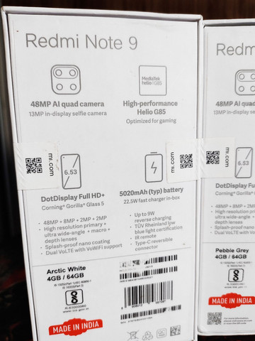 Xiaomi Redmi note 9 64GB 4GB RAM LACRADO  - Foto 5