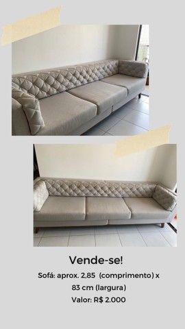Vende-se sofá 3 lugares em ótimo estado! - Foto 3