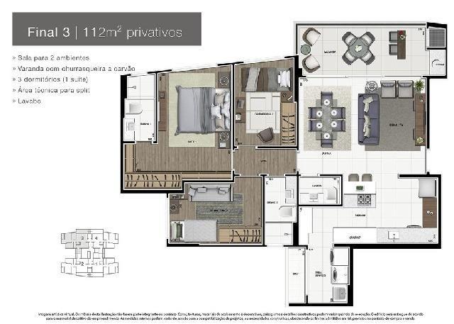 Apartamento Novo Alto Padrão no Ecoville - Foto 4