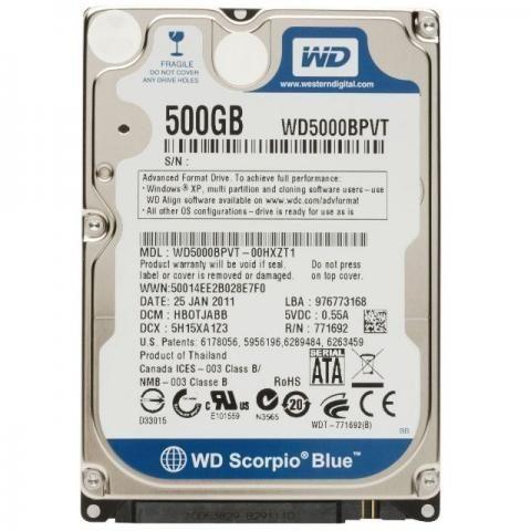 HD 500GB - Notebook