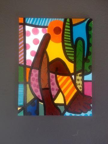Pintura óleo sobre tela comteporaneo