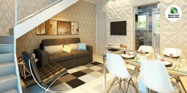 Casas de 50m² - 2 dormitorios - quintal de 12m² nos fundos - 1 vaga de garagem, com lazer - Foto 3