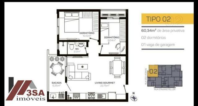 AP0186 Apto com 2 dorm.; 60 m², Bairro São Vicente - Itajaí/SC - Foto 11