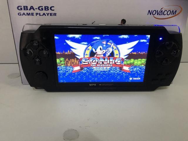 Video Game Pmp Portátil 10mil Jogos Roms Gba Nes Gbc Player Mp3 Mp5 Fm - Foto 4
