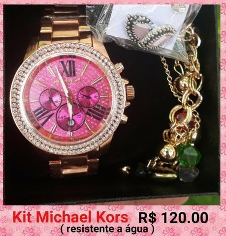 Relogio Mk - Kit relogio + pulseira + brinco - Bijouterias, relógios ... 1099b969c0
