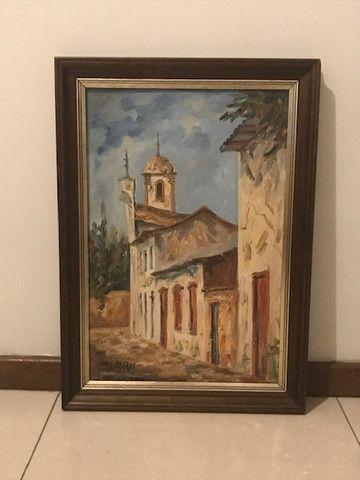 Quadro Pintura a Óleo (Rua de Ouro Preto/MG) - Foto 4