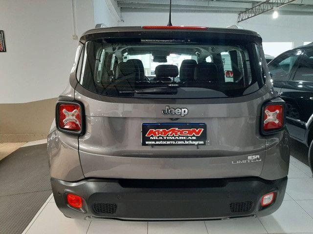 Jeep renegade automática limited 6 marchas banco de couro multimídia único dono 2018 - Foto 9