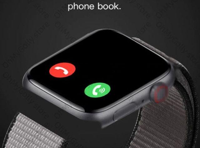 Relógio Inteligente X7 Versão Atualizada Recebe Faz Chamadas Rosa - Foto 4