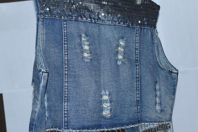 Colete jeans feminino - Foto 4