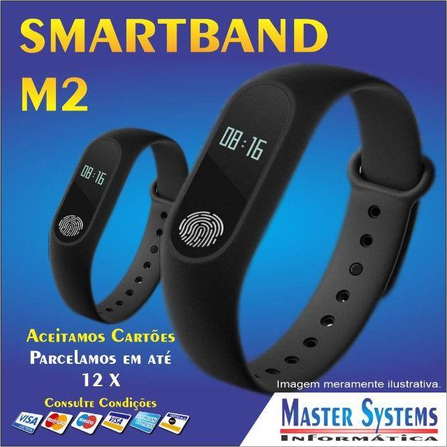 Pulseira Inteligente Smartband Bluetooth M2 Monitor Cardiaco