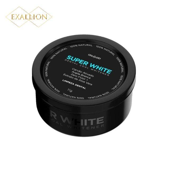 Clareador Dental Com Carvão Ativado ''Super White'' Fórmula Exclusiva