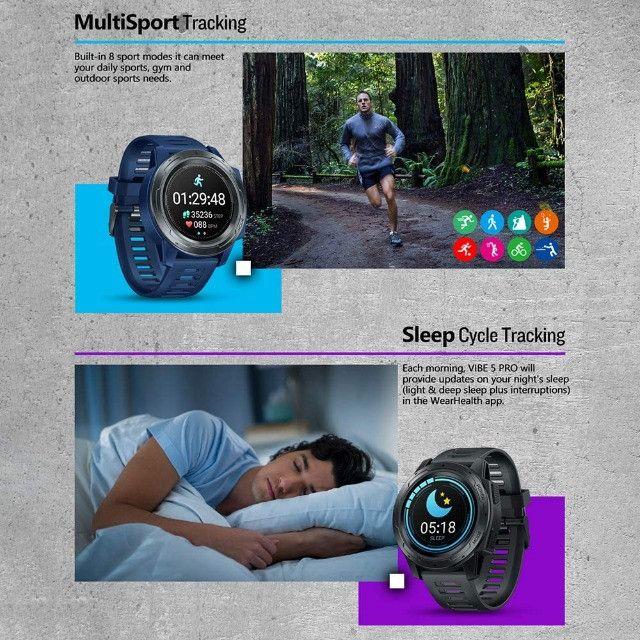 Relógio Smartwatch Zeblaze Vibe 5 Pro - Touch Screen - Preto - Foto 3
