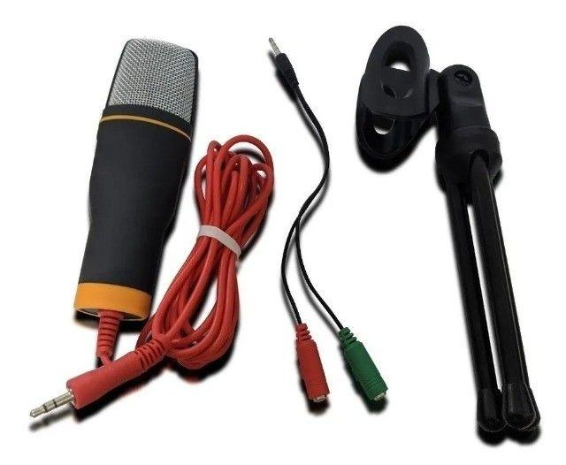 Microfone Condenser SF-666 Preto - Foto 2
