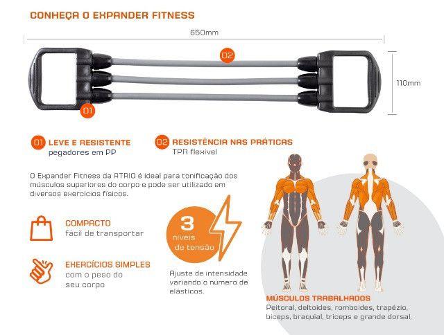 Expansor Fitness Atrio Es233 Fortalece Musculatura Pr/Cz - Foto 3