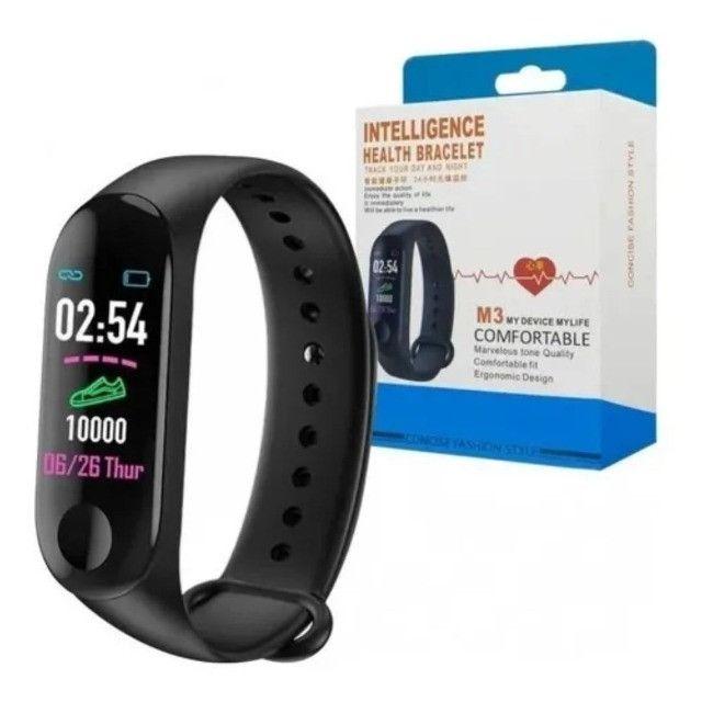 Relógio Pulseira M3 Smartband Inteligente Monitor Cardíaco - Foto 5
