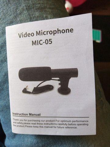 Microfone captador para câmeras/filmadoras/celulares/ notebook - Foto 4