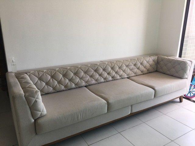 Vende-se sofá 3 lugares em ótimo estado! - Foto 2